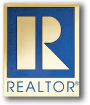 realtor pin gold and blue transparent